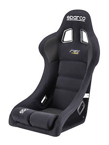 Sparco Rev Black Competition Racing Seat Fia Certified Approved Fiberglass Shell