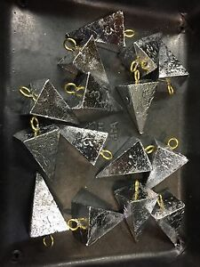 lead pyramid sinkers 10 Lbs 1-2-3-4-5-6-8-10 oz any combination of sizes