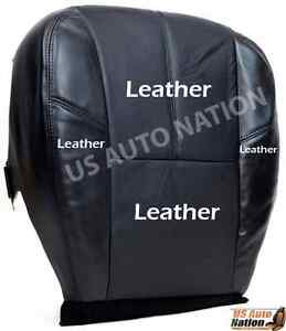 2008 09 10 11 2012 Chevy Silverado Lt Ltz Driver Bottom Leather Seat Cover Black