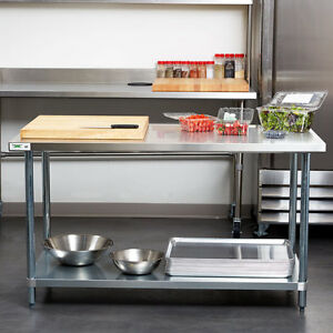 30 X 60 Stainless Steel Work Prep Shelf Table Commercial Restaurant 18 Gauge