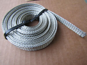 10 Ft 3 8 Wide Tin Plated Neg Ground Strap Made In Usa By Belden 7 Read More