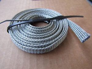 100 Ft 2 X 50ft 1 2 Wide Tin Plated Negat Ground Strap Made In Usa 3 free Ship