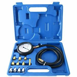 Auto Engine Oil Pressure Tester Gauge Diagnostic Tester Tool Kit 500psi W Case