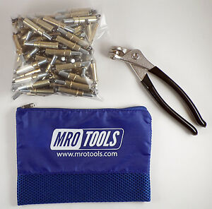 100 3 16 Cleco Sheet Metal Fasteners Plus Cleco Pliers W carry Bag k1s100 3 16