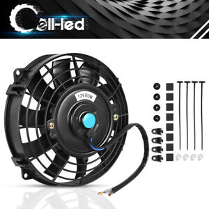 8 Inch Push Pull Electric Cooling Fan 1350cfm Slim Radiator Kit For Volvo Ram