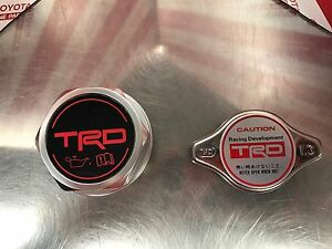 Trd Oil Cap Radiator Cap Ptr35 00110 Ptr04 00000 03 Genuine Oem Toyota Parts