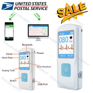 Portable Ecg Monitor Pm10 With Bluetooth Heart Beat Monitor Us Seller Fda