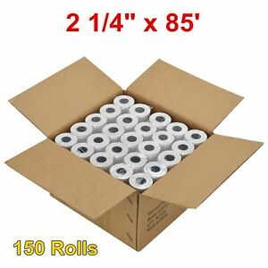 150 Rolls 1 4 X 85 Thermal Receipt Paper Cash Credit Card Pos Register Tape