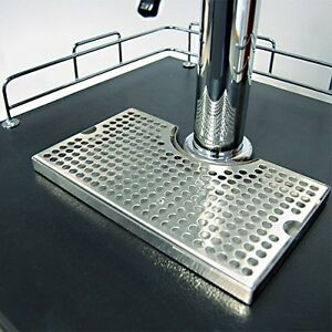 1x12 Surface Mount Kegerator Beer Drip Tray Stainless Steel Tower Cut No Drain