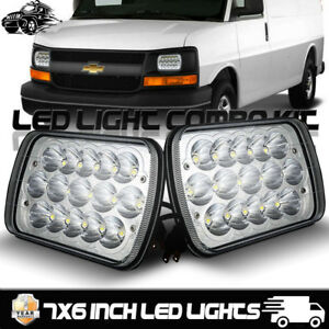 7x6 Led Headlight Sealed Headlamp For Chevy Express Cargo Van 1500 2500 3500