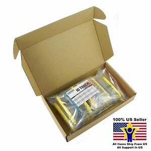 50value 2000pcs 1 2w Metal Film Resistor Assortment Kit Us Seller Kitb0077