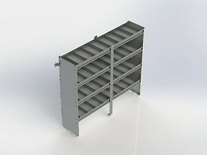 Ranger Design 4872 4 Cargo Van Shelving System With Square Back And 4 Shelves