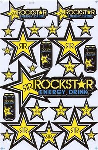 New Rockstar Energy Motocross Racing Graphic Stickers decals waterproof