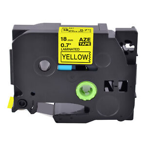 1pk Tz 641 Label Tape Black On Yellow Tze 641 For Brother P touch Pt 1880 18mm
