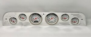 1967 1968 1969 1970 1971 1972 Ford Truck 6 Gauge Dash Cluster Metric White