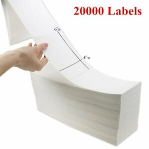 20000 Fanfold 4x6 Direct Thermal Shipping Barcode Mailing Label Zebra 2844 Ups