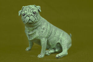 Cold Painted Austrian Bronze Depicting Pug Dog Signed Miguel Lopez Known As Milo