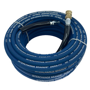 100 Ft 3 8 Blue Non marking 4000psi Pressure Washer Hose Includes Qc Couplers