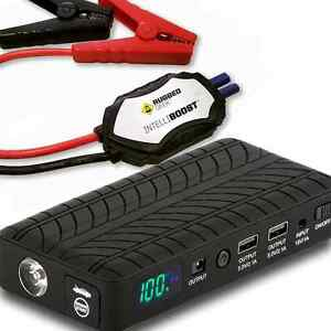 1000 Amp Portable Lithium Booster Pack Car Jump Starter Power Supply Lcd Cables