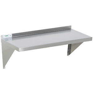 Stainless Steel 15 X 36 Solid Wall Shelf Commercial Kitchen Restaurant 18g Nsf