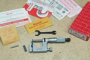 Starrett No 220 Mul t anvil 1 Micrometer mint