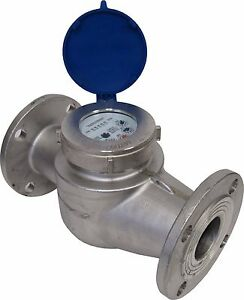 New Prm 2 Inch Flanged 150 304 Stainless Steel Multi jet Cold Water Meter Nib