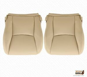 Driver Passenger Bottom Synt Leather Seat Cover Tan For 2005 2006 Lexus Gx470