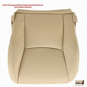 Passenger Side Bottom Leather Seat Cover Tan For 2003 To 2009 Lexus Gx470