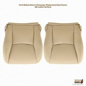 Front Driver Amp Passenger Bottom Leather Tan Seat Cover For 2003 2009 Lexus Gx470
