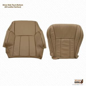 Front Driver Bottom Top Tan Leather Seat Cover Fits 1998 1999 Toyota 4runner