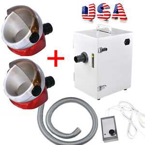 Dental Industry Digital Single row Dust Collector Vacuum Cleaner 2x Suction Base