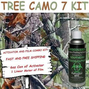 Hydrographic Film Water Transfer Hydro Dip 6oz Activator Tree Camo 7 Dip Kit