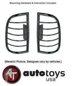 Black Tail Light Guards Covers For 1998 2001 Ford Explorer Set
