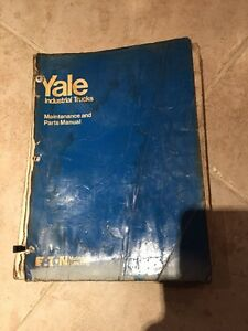Oem Yale Est Mr Electric Forklift 2k To 3k Lb Maintenance Parts Book Manual