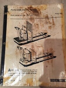 Prime Mover Pe 45 45r Electric Low Lift Pallet Truck Parts Manual