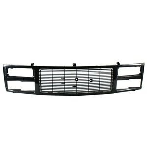 Am New Front Grille W Quad Sealed Beam Lamps Black For 88 99 Gmc K1500 C1500