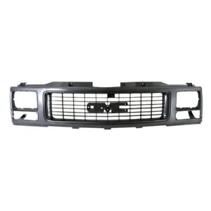 Black Grille Assembly For 94 02 Gmc C k 1500 2500 3500 Single Headlamp Type Only