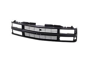 Full Black Grille For 94 98 Chevy C k Pickup Truck Suburban Tahoe Gm1200239