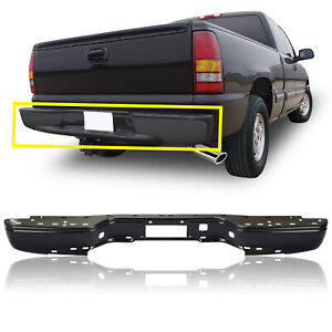 Rear Step Bumper For 99 07 Chevy Silverado Gmc Sierra 1500 Ls Lt Ss Wt Sl Black