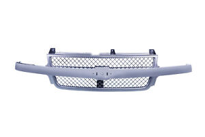 Am Front Grille For Chevrolet Silverado 2500 Hd Silverado 3500 Chrome Gm1200523