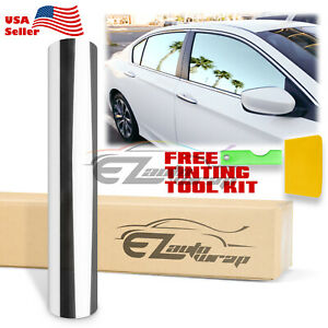20 X120 Uncut Roll Window Mirror Silver Chrome Tint Film Car Home Office Glass