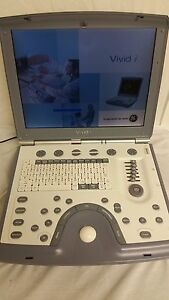 Ge Vivid I Portable Ultrasound Echocardiogram With 3s rs Adult Cardiac Probe