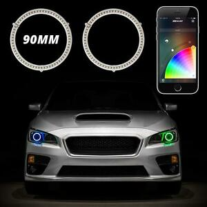 90mm Rgb Switchback Halo Kit App Control Turn Signal Drl Angel Eye Retrofit