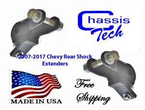 2007 2016 Chevy Silverado Gmc Sierra 1500 Rear Drop Shock Extenders Lowering Kit