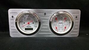 1940 1941 1942 1943 1944 1945 1946 1947 Ford Truck Quad Dash Cluster Metric
