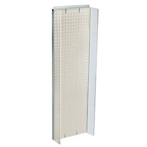 New Retails White Plastic Pegboard Powerwing Display 14 w X 44 high