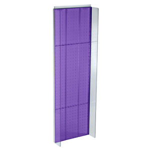 New Retails Purple Plastic Pegboard Powerwing Display 14 w X 44 high