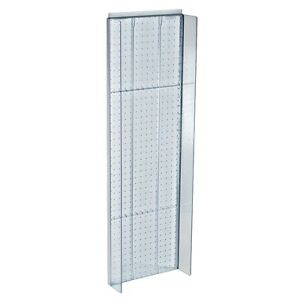 New Retails Clear Plastic Pegboard Powerwing Display 14 w X 44 high
