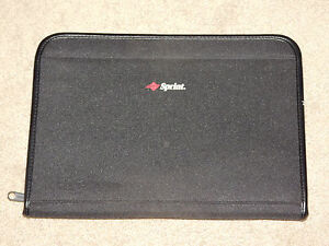 Sprint Wireless Executive Zipped Portfolio Folio Planner Organizer euc