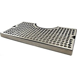1 X 12 Surface Mount Kegerator Beer Drip Tray Stainless Steel Tower Cut Out